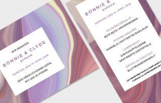 Hochzeit, Karten, psychedelisch, Marmor
