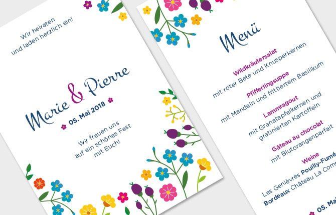 Hochzeit, Karten, verspielt