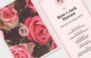 Hochzeit, Karten, romantisch